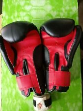 ProForce Leatherette Boxing Gloves Black with Red Palm – Fitness, Cardio,12 oz
