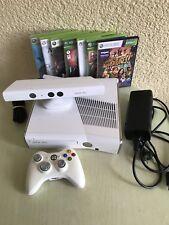 Microsoft XBOX 360 SLIM 250gb BIANCO console per videogiochi incl. Kinect e controller