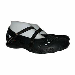 Skechers Black Lightweight Rubber Maryjane Flats Shoes Sandals Women's 9