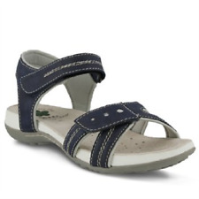 NEW SPRING STEP NAVY BLUE LEATHER SANDALS SIZE 8.5 M 39 $70