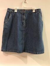 L. L. Bean Classic Blue Denim Skirt Size 14