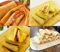 2 Dozen Assorted Tamales |Beef, Beef Barbacoa, Pork, Chicken Tamale