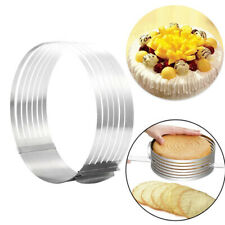 16-30cm Adjustable Round Stainless Steel Cake Ring Mold Layer Slicer Cutter~BDA