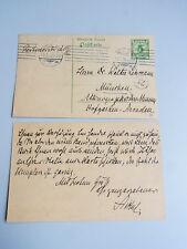 Otto Aichel (1871-1935): 2 eh. PK MÜNCHEN 1910 über Rodolfo LENZ (Chile)