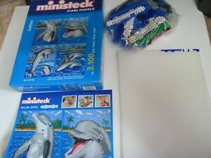 Pre-Owned Ministeck Pixel Puzzle (32772)  Dolphin
