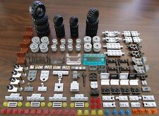 NEW LEGO VEHICLE LOT: 150+ Parts 4 Sets of Tires Windows Tow/Specialty Pieces +