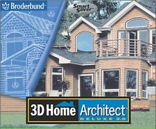 3D Home Architect Deluxe 3 3.0 PC CD plan design build house interior exterior