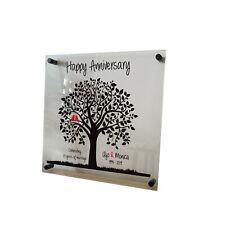 5, 10, 25, 30, 40, 50 Wedding Anniversary Custom Printed Acrylic Frame, Wall Art