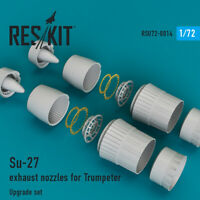 Su-27 exhaust nozzles for Trumpeter (Resin Upgrade set) 1/72 ResKit RSU72-0014