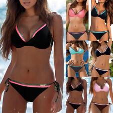 Womens Push-up Bra Bikini Sets Swimsuit Bandage Swimwear Summer Bathing Suit