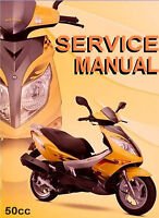 Chinese Scooter 50cc GY6 Service Repair Shop Manual on CD JONWAY BRANSON BACCIO