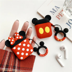 Cartoon Silicone Mouse for Apple AirPods 2 1 Charging Earphone Minnie Case Ring