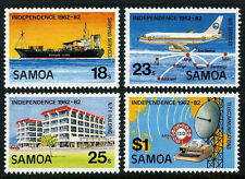 Samoa 571-574, MNH. 20th anniv. of Independence. Ship, Jet, Dialing system, 1982