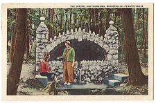 THE SPRING Camp Nawakwa Biglerville  Pennsylvania LINEN Postcard PA 1941