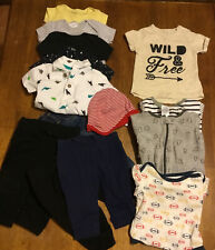 Lot Of Baby Boy Clothes, Size 3-6 Months, 15 Pieces