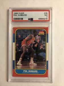 1986-87 FLEER Basketball Phil Hubbard #48 PSA 7 NM New Cert Nice