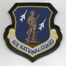 """USAF Patch AIR NATIONAL GUARD, embroidered on faux Leather for A-2  Jackets, 4"""""""