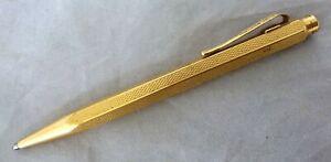 VINTAGE CARAN D'ACHE PROPELLING/ MECHANICAL PENCIL GOLD PLATED GRAIN D'0RGE