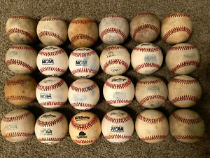 24 baseballs used in NCAA Div 1 and NAIA competition/training