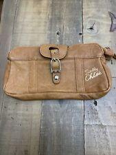 See By Chloe Tan Leather Clutch Bag Purse Designer Chloe