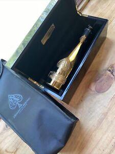 Ace of Spades Gold Armand De Brignac Champagne Bottle With Box & Slipcase  EMPTY