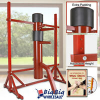Wing Chun Solid Wooden Adjustable Training Target Dummy Traditional Martial Arts