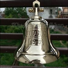 Nautical Solid Brass Maritime Ship Bell Titanic 1912 London Hanging Wall Decor