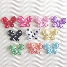 "US SELLER 200pc x 5/8"" Assorted Padded Satin Polka Dot Butterfly Appliques ST301"