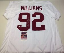 ALABAMA CRIMSON TIDE QUINNEN WILLIAMS SIGNED CUSTOM WHITE JERSEY  JSA COA!!!