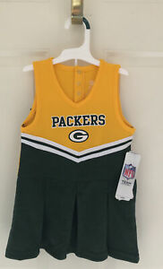 NEW! Green Bay Packers NFL Team Apparel Girls 4T Packer Cheerleader Outfit Dress