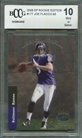 2008 sp rookie edition #177 JOE FLACCO 93 baltimore ravens rookie BGS BCCG 10