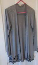 3f6e4cce76 Monsoon ladies striped cardigan ( size M  14   ) viscose material.