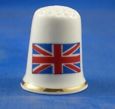 Birchcroft Thimble -- Flags of the World -- Great Britain -- Free Dome Box
