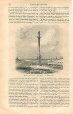 Monument de Wolfe & de Montcalm Québec Canada GRAVURE ANTIQUE OLD PRINT 1861