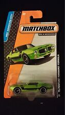 2013 MATCHBOX 71 Pontiac Firebird Car Green #11 ADVENTURE CITY Die-Cast Vehicle