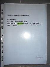 BERNARD tracteur BL 15542 SBHK - BL 155H42 SBA : parts breakdown