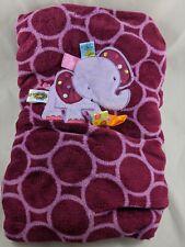 "Taggies Purple Elephant Baby Blanket 30"" x 40"""