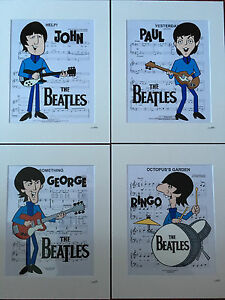 The Beatles - 1965 Cartoon Series Collection - Hand Drawn & Hand Painted Cels