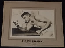 1920's BOXING / BOXER - EUGENE BROSSEAU - MIDDLEWEIGHT BOXING STAR CABINET PHOTO