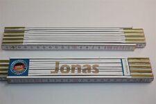 Zollstock mit Namen  JONAS     Lasergravur 2 Meter Handwerkerqualität