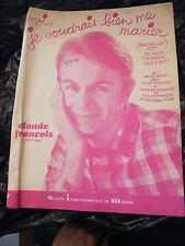 Partition Moi je voudrais me marier Claude François 1962