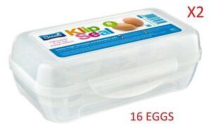 2 x 8 Eggs Case Tray Refrigerator Fridge Storage Egg Box Holder Food Container