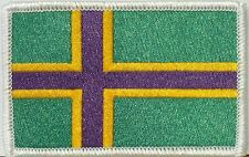 VINLAND FLAG Iron On Patch Purple & Green VIKING Version Embroidered NORWAY