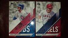 2017 TOPPS BOTH MVPS MIKE TROUT & KRIS BRYANT INSERTS