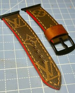 Apple Watch Custom Handmade 42/44mm Leather Link Watch Strap Band series 3 4 5 6