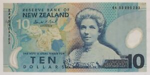 New Zealand - 1999 to 2013 - 10 Dollar - P-186a (Issued 1999) - Economical Grade
