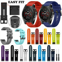 Silicone Quick Install Band Easy Fit Wrist Strap For Garmin Fenix 3 5 5X Plus