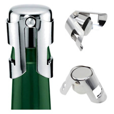 Stainless Steel Sealed Sparkling Champagne Wine Bottle Saver Stopper Cap Silver