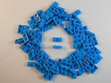 LEGO 1X2 PLATES. LOT OF 100. DARK AZURE. BRAND NEW! FREE SHIPPING!