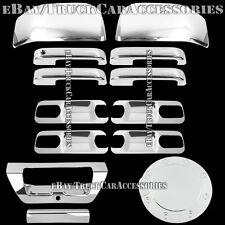 For FORD F150 2015 Chrome Covers 4 Door Handles+Back Plates+Mirrors+Gas+Tailgate